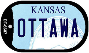 Ottawa Kansas Wholesale Novelty Metal Dog Tag Necklace DT-6607