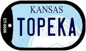 Topeka Kansas Wholesale Novelty Metal Dog Tag Necklace DT-6608