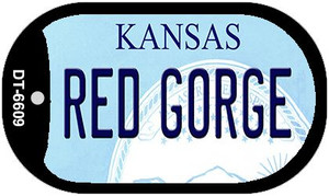 Red Gorge Kansas Wholesale Novelty Metal Dog Tag Necklace DT-6609