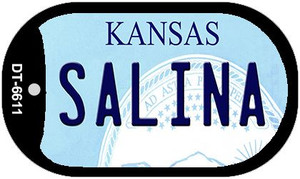 Salina Kansas Wholesale Novelty Metal Dog Tag Necklace DT-6611