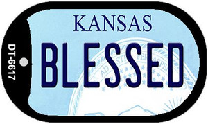Blessed Kansas Wholesale Novelty Metal Dog Tag Necklace DT-6617