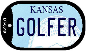 Golfer Kansas Wholesale Novelty Metal Dog Tag Necklace DT-6619