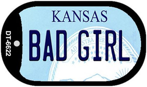 Bad Girl Kansas Wholesale Novelty Metal Dog Tag Necklace DT-6622