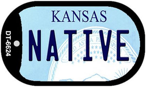Native Kansas Wholesale Novelty Metal Dog Tag Necklace DT-6624