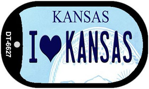 I Love Kansas Wholesale Novelty Metal Dog Tag Necklace DT-6627