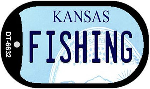 Fishing Kansas Wholesale Novelty Metal Dog Tag Necklace DT-6632