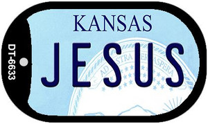 Jesus Kansas Wholesale Novelty Metal Dog Tag Necklace DT-6633