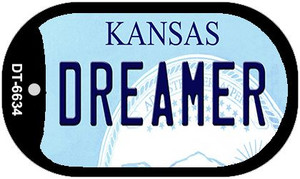 Dreamer Kansas Wholesale Novelty Metal Dog Tag Necklace DT-6634