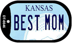 Best Mom Kansas Wholesale Novelty Metal Dog Tag Necklace DT-6646