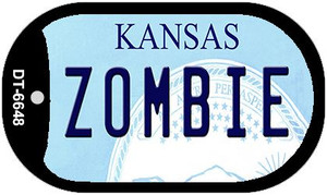 Zombie Kansas Wholesale Novelty Metal Dog Tag Necklace DT-6748