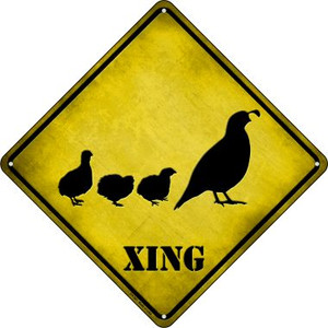 Quail Xing Wholesale Novelty Metal Crossing Sign CX-361