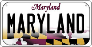 Maryland Wholesale Novelty Metal Bicycle Plate BP-10461