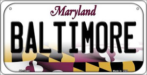 Baltimore Maryland Wholesale Novelty Metal Bicycle Plate BP-10465