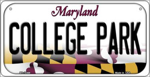 College Park Maryland Wholesale Novelty Metal Bicycle Plate BP-10469