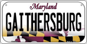 Gaithersbury Maryland Wholesale Novelty Metal Bicycle Plate BP-10472