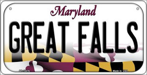 Great Falls Maryland Wholesale Novelty Metal Bicycle Plate BP-10476