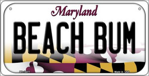 Beach Bum Maryland Wholesale Novelty Metal Bicycle Plate BP-10477