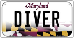 Diver Maryland Wholesale Novelty Metal Bicycle Plate BP-10482