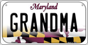Grandma Maryland Wholesale Novelty Metal Bicycle Plate BP-10484