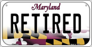 Retired Maryland Wholesale Novelty Metal Bicycle Plate BP-10486