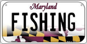 Fishing Maryland Wholesale Novelty Metal Bicycle Plate BP-10490