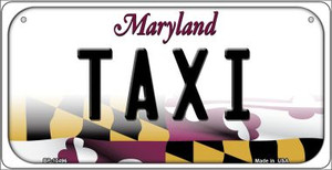 Taxi Maryland Wholesale Novelty Metal Bicycle Plate BP-10496