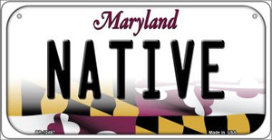 Native Maryland Wholesale Novelty Metal Bicycle Plate BP-10497