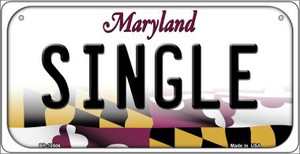 Single Maryland Wholesale Novelty Metal Bicycle Plate BP-10506