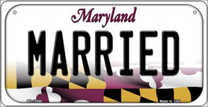 Married Maryland Wholesale Novelty Metal Bicycle Plate BP-10508