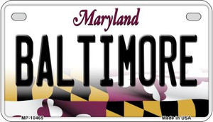 Baltimore Maryland Wholesale Novelty Metal Motorcycle Plate MP-10465