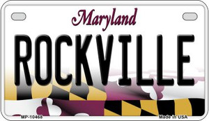 Rockville Maryland Wholesale Novelty Metal Motorcycle Plate MP-10468