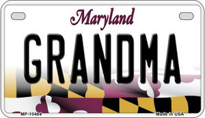 Grandma Maryland Wholesale Novelty Metal Motorcycle Plate MP-10484