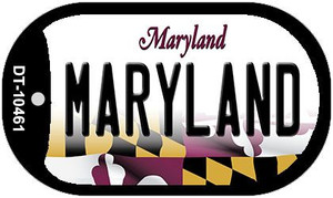 Maryland Wholesale Novelty Metal Dog Tag Necklace DT-10461