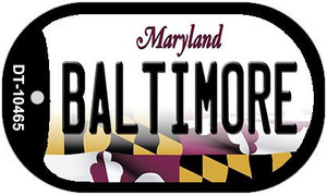 Baltimore Maryland Wholesale Novelty Metal Dog Tag Necklace DT-10465