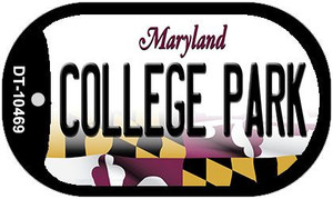College Park Maryland Wholesale Novelty Metal Dog Tag Necklace DT-10469