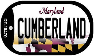 Cumberland Maryland Wholesale Novelty Metal Dog Tag Necklace DT-10470