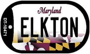 Elkton Maryland Wholesale Novelty Metal Dog Tag Necklace DT-10471