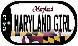Maryland Girl Maryland Wholesale Novelty Metal Dog Tag Necklace DT-10478