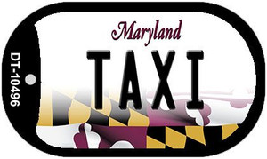 Taxi Maryland Wholesale Novelty Metal Dog Tag Necklace DT-10496