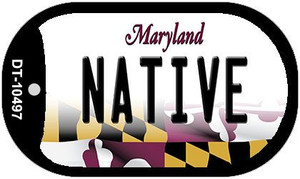Native Maryland Wholesale Novelty Metal Dog Tag Necklace DT-10497