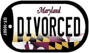 Divorced Maryland Wholesale Novelty Metal Dog Tag Necklace DT-10507