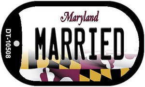 Married Maryland Wholesale Novelty Metal Dog Tag Necklace DT-10508