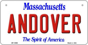 Andover Massachusetts Wholesale Novelty Metal Bicycle Plate BP-10990