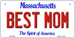 Best Mom Massachusetts Wholesale Novelty Metal Bicycle Plate BP-11016