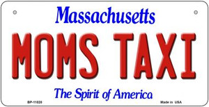 Moms Taxi Massachusetts Wholesale Novelty Metal Bicycle Plate BP-11020