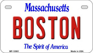 Boston Massachusetts Wholesale Novelty Metal Motorcycle Plate MP-10981