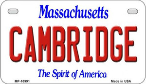 Cambridge Massachusetts Wholesale Novelty Metal Motorcycle Plate MP-10991