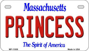 Princess Massachusetts Wholesale Novelty Metal Motorcycle Plate MP-11009