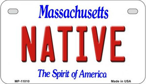 Native Massachusetts Wholesale Novelty Metal Motorcycle Plate MP-11010