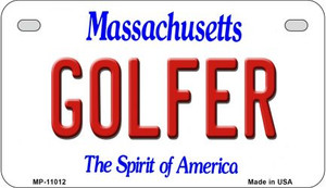 Golfer Massachusetts Wholesale Novelty Metal Motorcycle Plate MP-11012